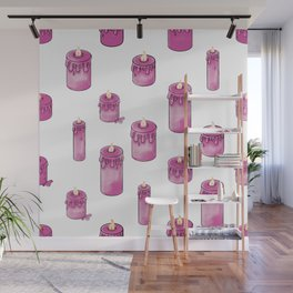 Candle Lit Pattern Wall Mural