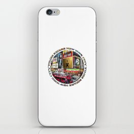 Times Square New York City (badge emblem on white) iPhone Skin