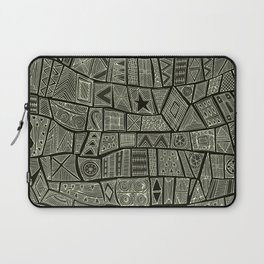 ESHE charcoal mono Laptop Sleeve