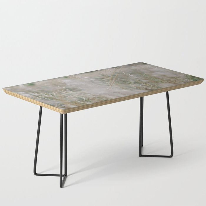 Tall wild grass growing in a meadow Coffee Table