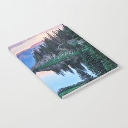 Hikers Bliss Perfect Scenic Nature View \ Mountain Lake Sunset Beautiful Backpacking Landscape Photo Notebook