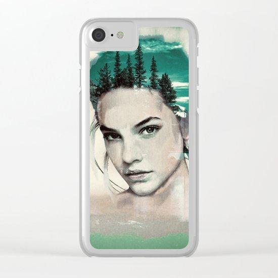 PORTRAIT (natural woman) Clear iPhone Case