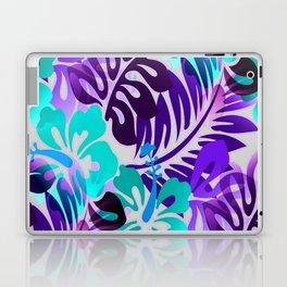 Hawaiian Floral Shirt Pattern Blue Violet Laptop & iPad Skin