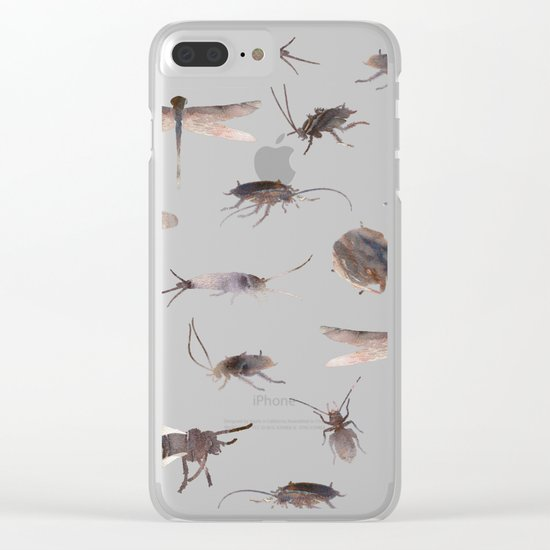 Insects on Pink Clear iPhone Case