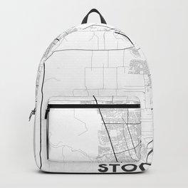 Minimal City Maps - Map Of Stockton, California, United States Backpack