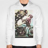 moto Hoodies featuring Moto D by Mo Baretta