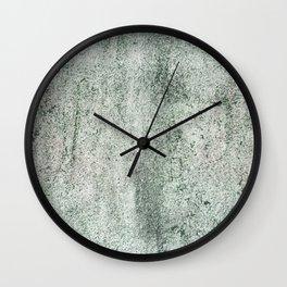 Green concrete Wall Clock