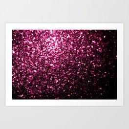 Beautiful Dark Pink glitter sparkles Art Print
