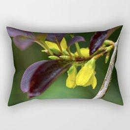 Yellow Flowers in Rain Rectangular Pillow