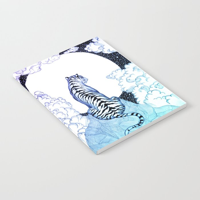 Ombre Tiger Moon Notebook