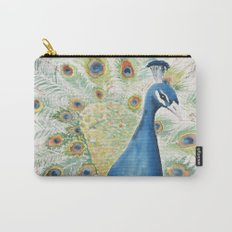 Watercolour Peacock Carry-All Pouch