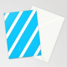 Blue & White Stripes Stationery Cards