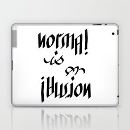 Normal is an Illusion - Ambigram Laptop & iPad Skin