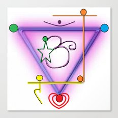 All Chakra Symbol Canvas Print