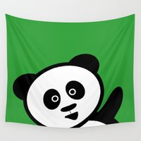 pocket Wall Tapestries featuring Pocket panda by Jaxxx