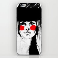 clown iPhone & iPod Skins featuring Clown by Guinevere Maerckx