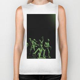 Plastic Army Man Battalion Black and Green Biker Tank