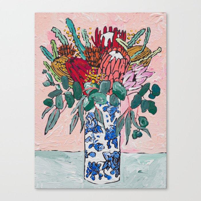 Australian Native Bouquet of Flowers after Matisse Leinwanddruck