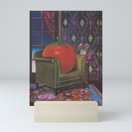 Therapy With A Tomato Milton Glaser - Tomato- Something unusual is going on here - 1978 Mini Art Print