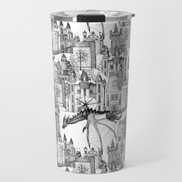Dragon Kingdom Winter Toile Travel Mug