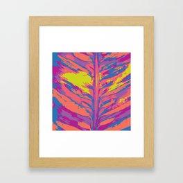 leafy coral Framed Art Print
