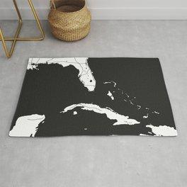 Florida, Cuba, Dominican Republic, Haiti, Jamaica Map Rug