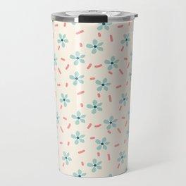 Simple Mint Florals Travel Mug