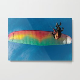 Paragliding flight. Metal Print
