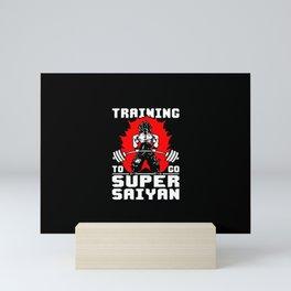 Training to go Super Saiyan Mini Art Print