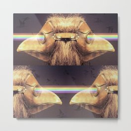 Bubonic Plague Mask Rays Metal Print