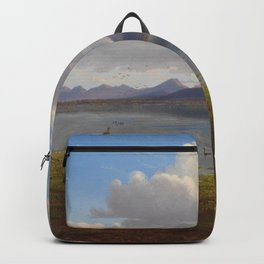 Mount William and part of the Grampians in West Victoria by Eu von Guerard Date 1865  Romanticism  L Backpack