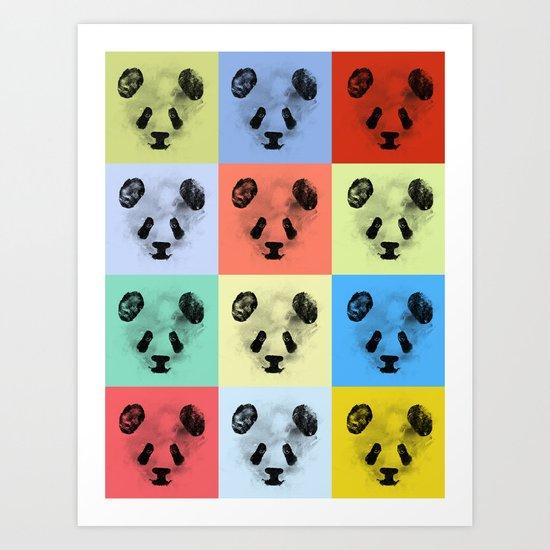Panda Panda Panda Art Print