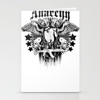anarchy Stationery Cards featuring Anarchy by Tshirt-Factory