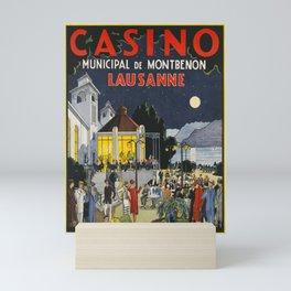 Advertisement lausanne casino municipal de Mini Art Print