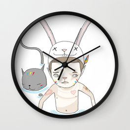 OVER THE BLACK POND Wall Clock