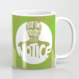 Notice – Lime (Lotus Pattern) Coffee Mug