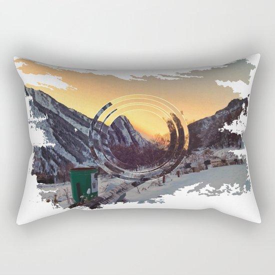 Mountains sunset Rectangular Pillow