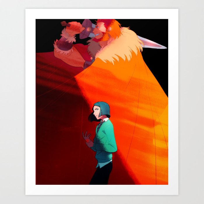 The Boy and the King Art Print
