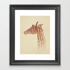 Gracious Elephant Framed Art Print
