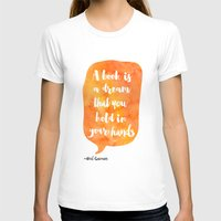 neil gaiman T-shirts featuring Mango, Neil Gaiman, quotes, inspirational art, bookish by Roarr