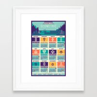 calendar 2015 Framed Art Prints featuring Calendar / 2015 by Adline / Szende Brassai