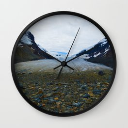 Columbia Icefields in Jasper National Park, Canada Wall Clock
