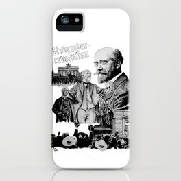 Philipp Scheidemann - NOVEMBERREVOLUTION iPhone Case