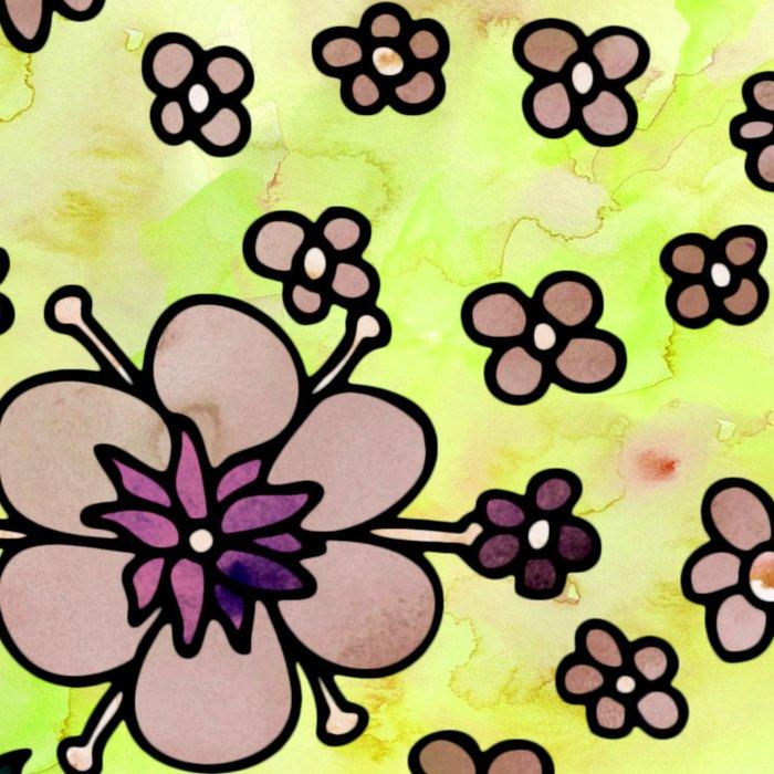 Brown Small Flowers Leggings