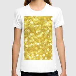 Super Glan Gold Glitter Bokeh Style T-shirt