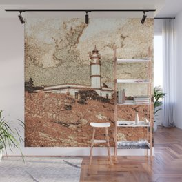 Lighthouse, Faro Ses Salines Wall Mural