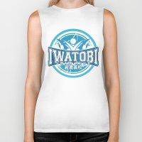 iwatobi Biker Tanks featuring Iwatobi Team Logo by Cup of June