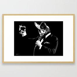 Bat Crooner Framed Art Print