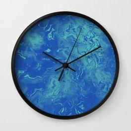 Blue Metal Wall Clock