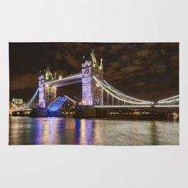 Tower Bridge, open for traffic. Rug